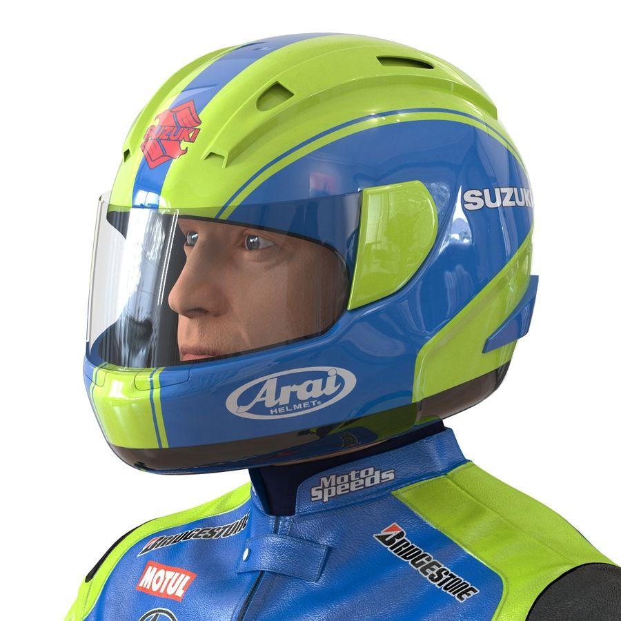 Cinema 4D için Donanımlı Motosiklet Sürücüsü royalty-free 3d model - Preview no. 33