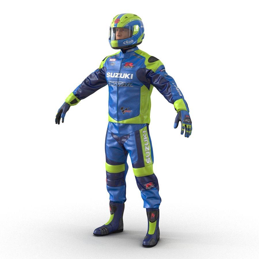 Cinema 4D için Donanımlı Motosiklet Sürücüsü royalty-free 3d model - Preview no. 15