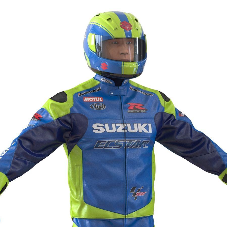Cinema 4D için Donanımlı Motosiklet Sürücüsü royalty-free 3d model - Preview no. 22