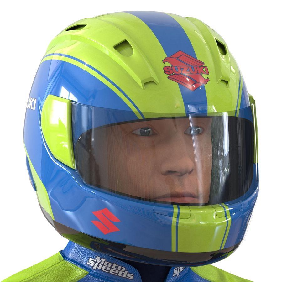Cinema 4D için Donanımlı Motosiklet Sürücüsü royalty-free 3d model - Preview no. 34