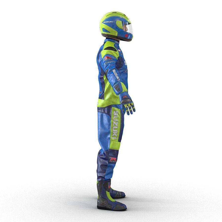 Cinema 4D için Donanımlı Motosiklet Sürücüsü royalty-free 3d model - Preview no. 10