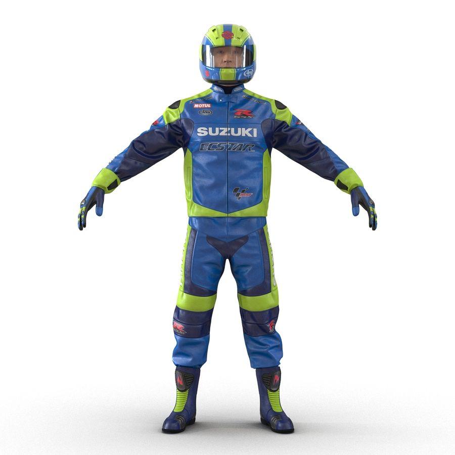 Cinema 4D için Donanımlı Motosiklet Sürücüsü royalty-free 3d model - Preview no. 7