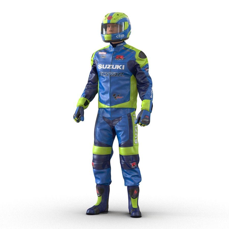 Cinema 4D için Donanımlı Motosiklet Sürücüsü royalty-free 3d model - Preview no. 4
