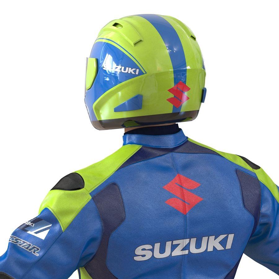 Cinema 4D için Donanımlı Motosiklet Sürücüsü royalty-free 3d model - Preview no. 32
