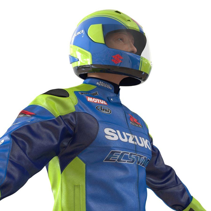 Cinema 4D için Donanımlı Motosiklet Sürücüsü royalty-free 3d model - Preview no. 28
