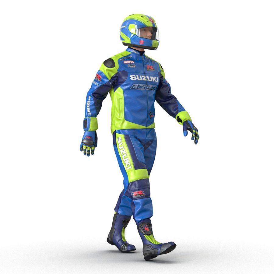Cinema 4D için Donanımlı Motosiklet Sürücüsü royalty-free 3d model - Preview no. 3
