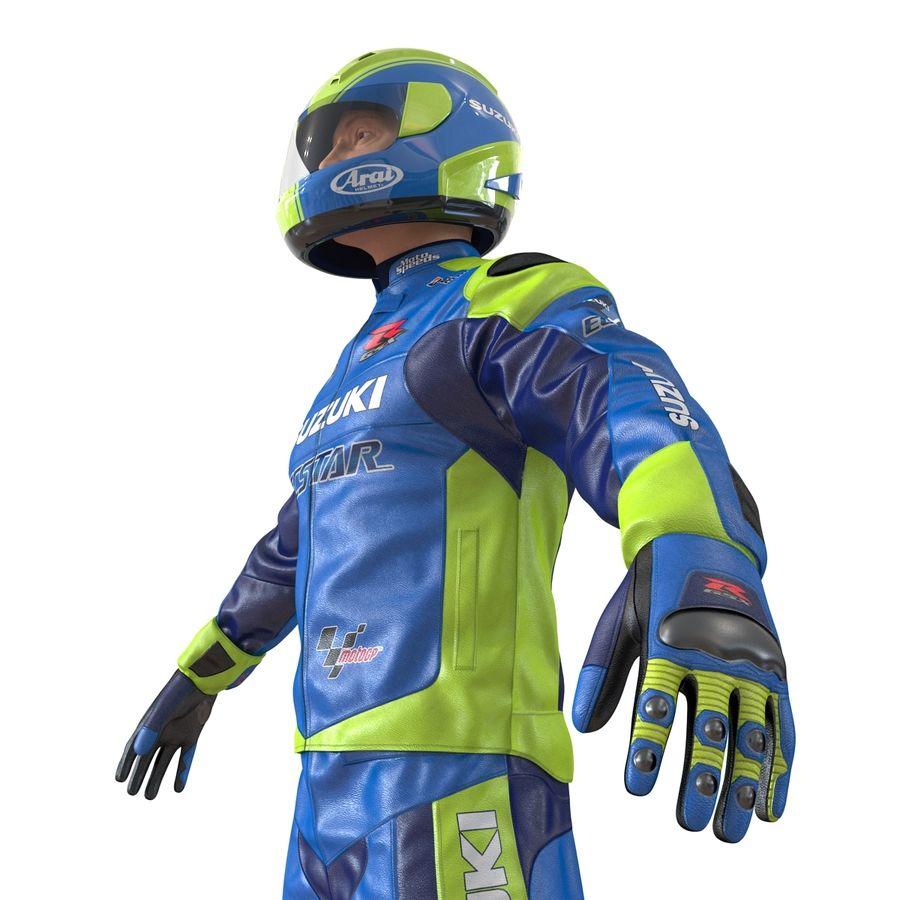 Cinema 4D için Donanımlı Motosiklet Sürücüsü royalty-free 3d model - Preview no. 21