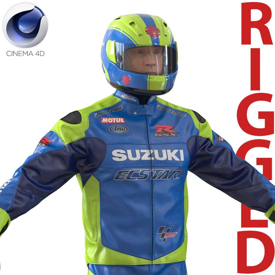 Cinema 4D için Donanımlı Motosiklet Sürücüsü royalty-free 3d model - Preview no. 1
