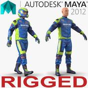 Maya için Motosiklet Sürücüsü 3d model