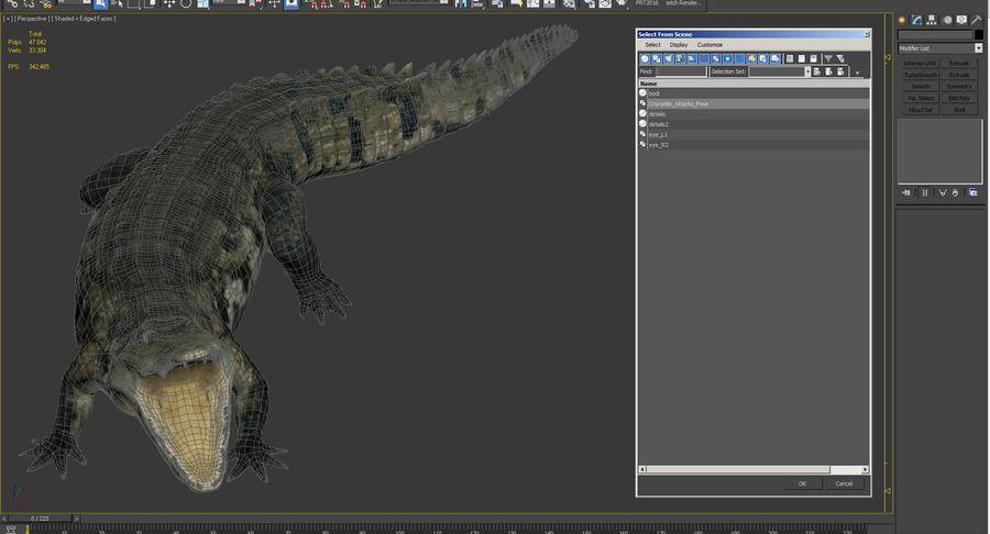 Crocodile Attacks Pose Modèle 3D royalty-free 3d model - Preview no. 12