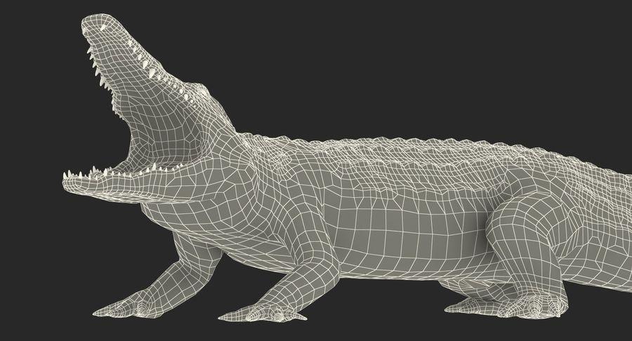 Crocodile Attacks Pose Modèle 3D royalty-free 3d model - Preview no. 15