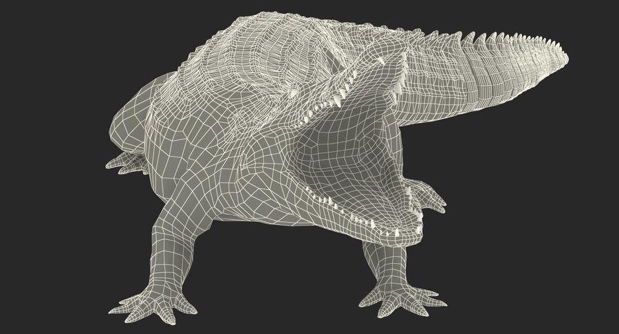 Crocodile Attacks Pose Modèle 3D royalty-free 3d model - Preview no. 16