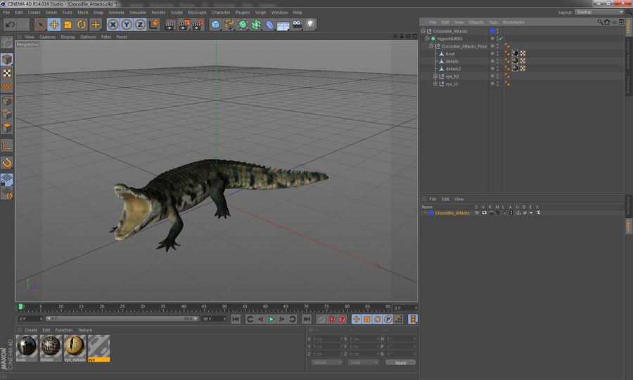 Crocodile Attacks Pose Modèle 3D royalty-free 3d model - Preview no. 13