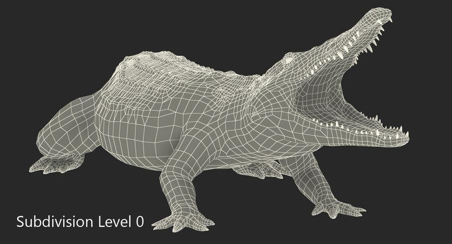 Crocodile Attacks Pose Modèle 3D royalty-free 3d model - Preview no. 9