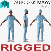Femme médecin afro-américaine truquée pour Maya 3d model