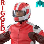 Motorradfahrer Generic 2 Rigged für Maya 3D Model 3d model