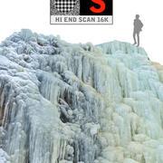 Fenómeno de la cascada de hielo de la naturaleza (2) modelo 3d