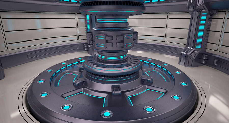 Energy Generator Room royalty-free 3d model - Preview no. 6