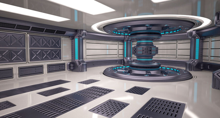 Energy Generator Room royalty-free 3d model - Preview no. 3