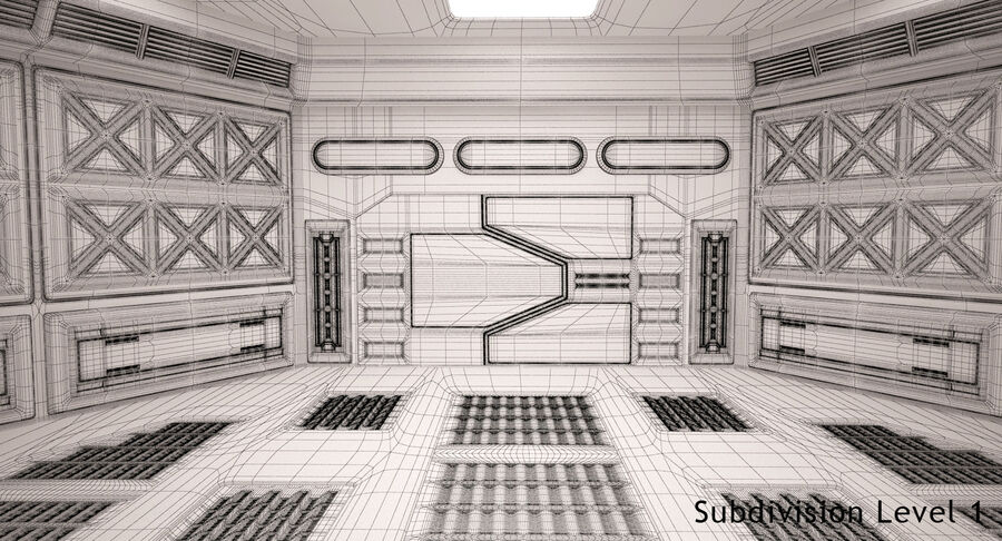 Energy Generator Room royalty-free 3d model - Preview no. 13