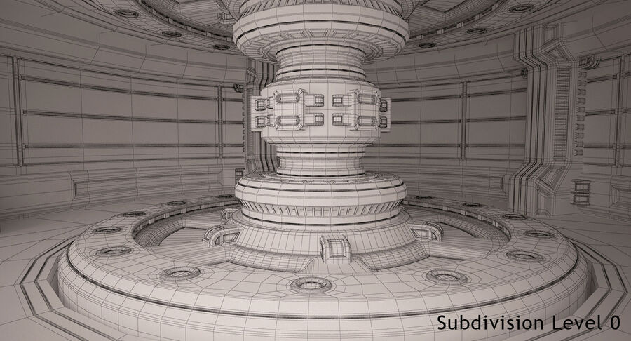 Energy Generator Room royalty-free 3d model - Preview no. 18