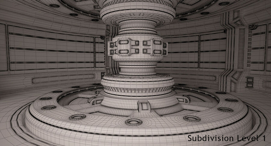 Energy Generator Room royalty-free 3d model - Preview no. 19
