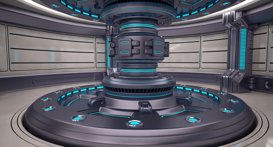Energy Generator Room royalty-free 3d model - Preview no. 5