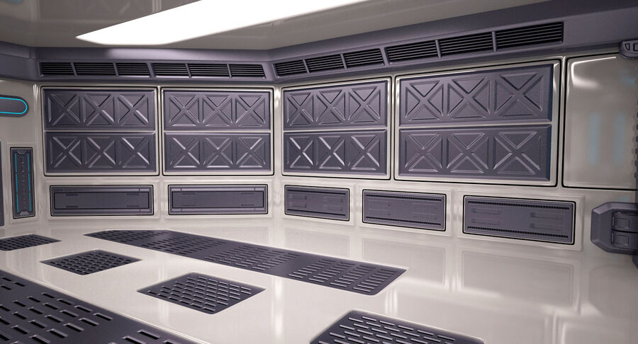 Energy Generator Room royalty-free 3d model - Preview no. 10