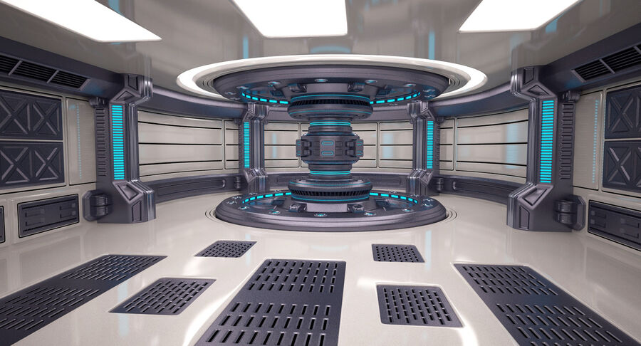 Energy Generator Room royalty-free 3d model - Preview no. 2