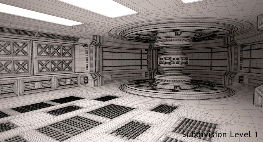 Energy Generator Room royalty-free 3d model - Preview no. 15