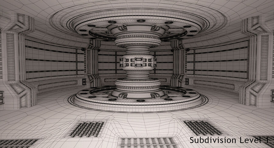 Energy Generator Room royalty-free 3d model - Preview no. 17