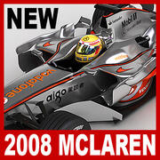 2008 Vodafone McLaren Mercedes MP4-23 3d model