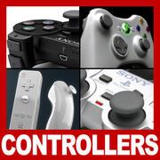 控制器和游戏手柄包 3d model