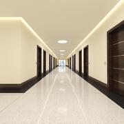 Hotel Hallway 001 3d model