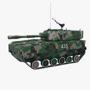 China PLZ-07 zelfrijdende artillerie 3d model
