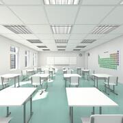 Klassenzimmer 002 3d model