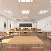 Klassenzimmer 001 3d model
