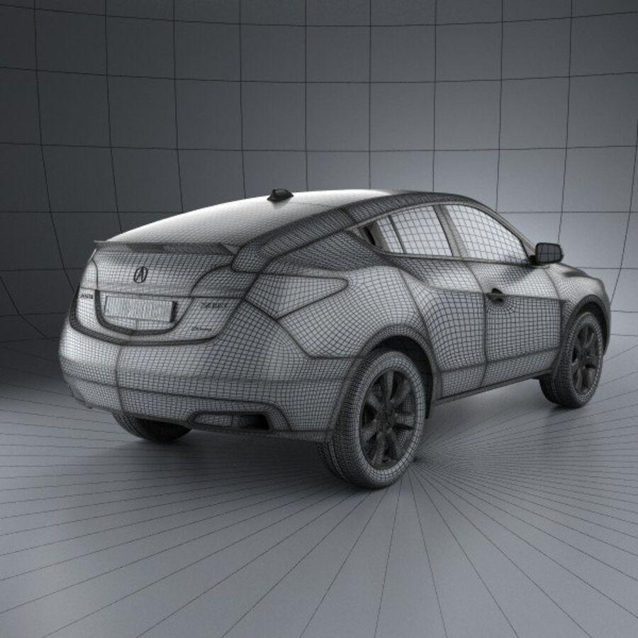 アキュラZDX 2012 royalty-free 3d model - Preview no. 4