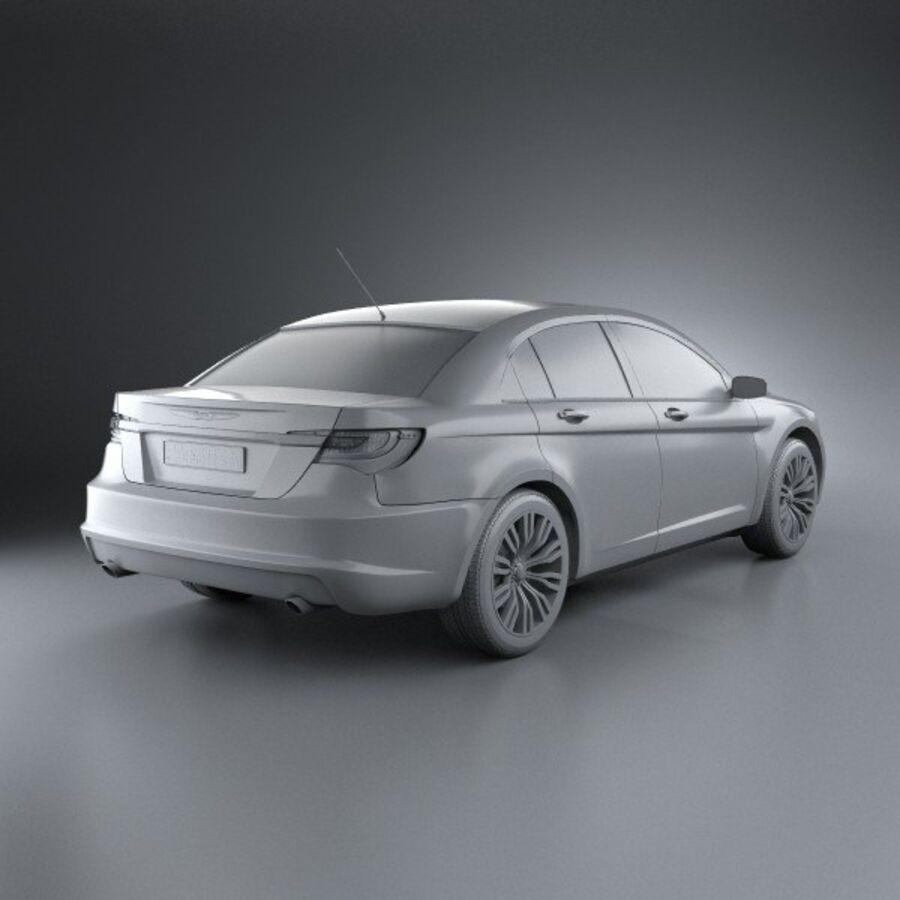 克莱斯勒200轿车2011 royalty-free 3d model - Preview no. 12