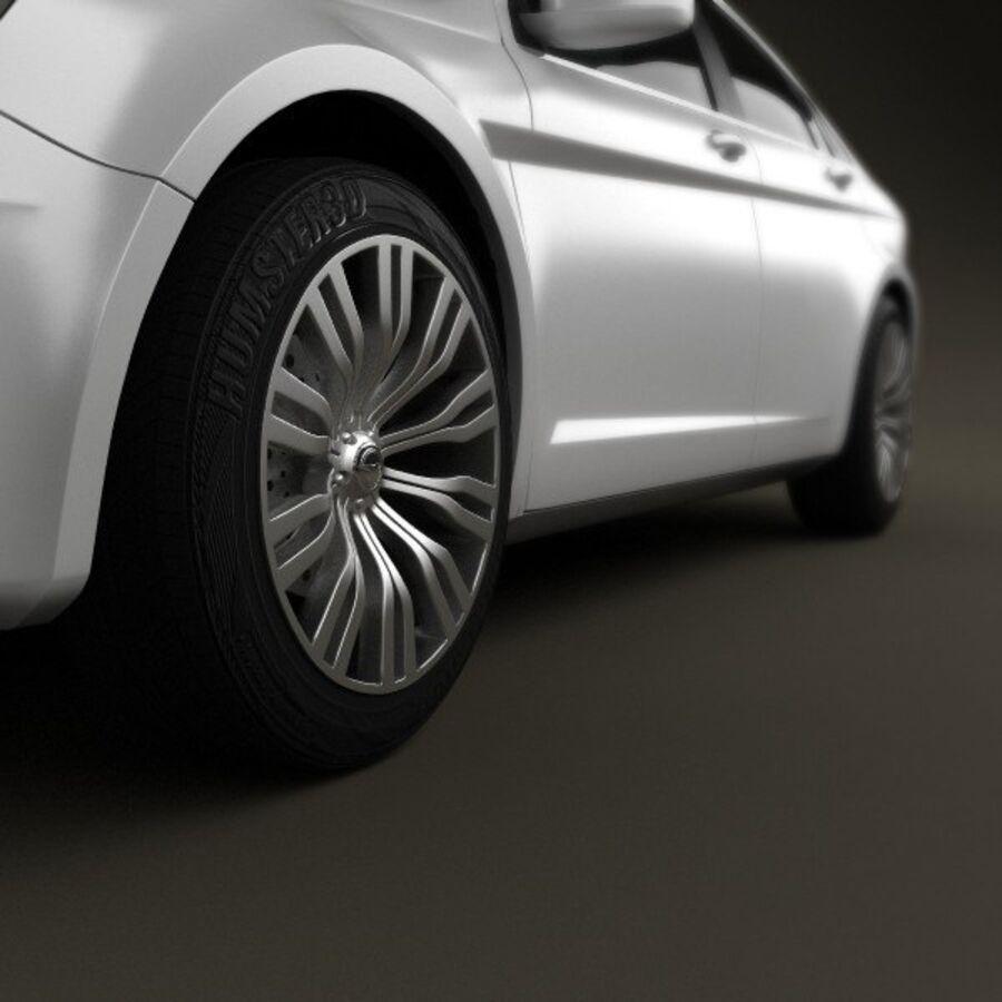 克莱斯勒200轿车2011 royalty-free 3d model - Preview no. 8