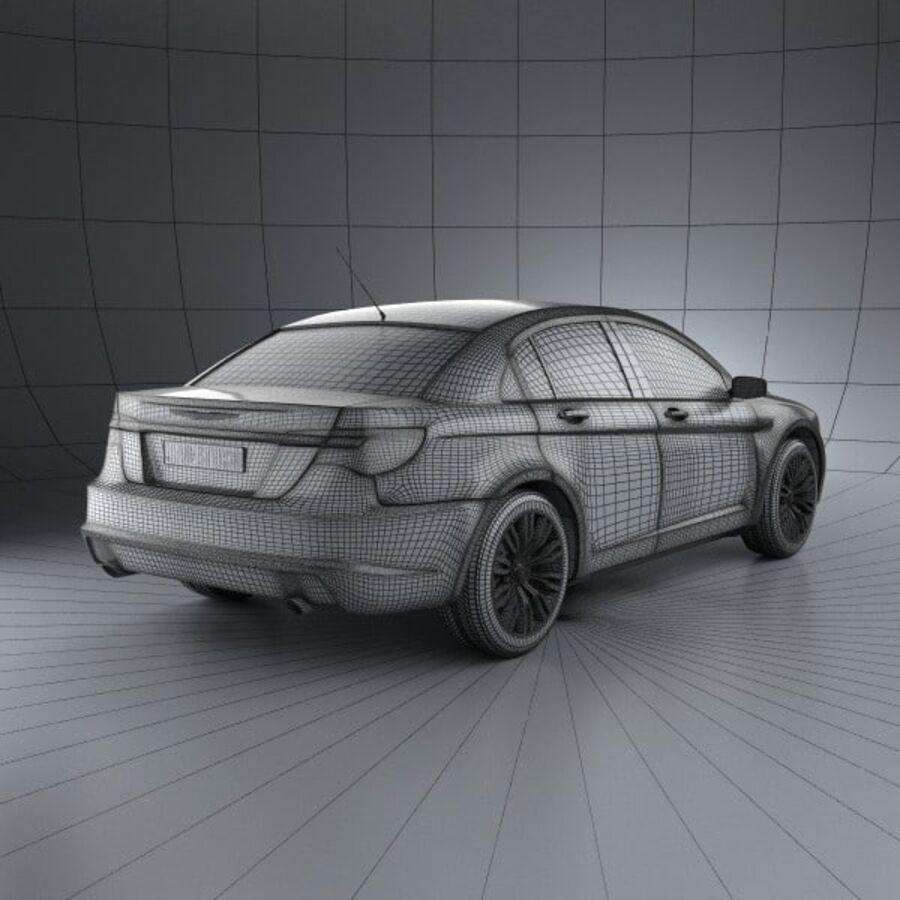 克莱斯勒200轿车2011 royalty-free 3d model - Preview no. 4