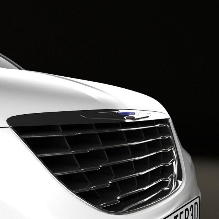 克莱斯勒200轿车2011 royalty-free 3d model - Preview no. 10