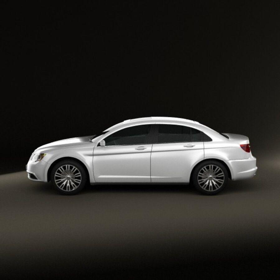 克莱斯勒200轿车2011 royalty-free 3d model - Preview no. 5