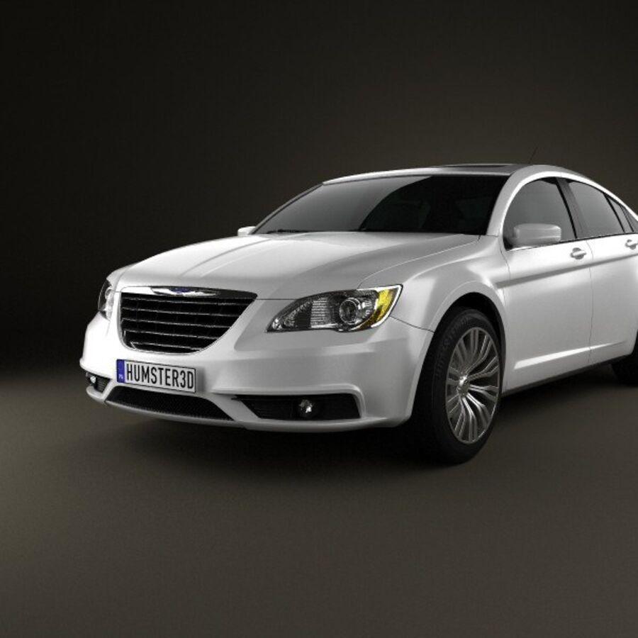 克莱斯勒200轿车2011 royalty-free 3d model - Preview no. 6