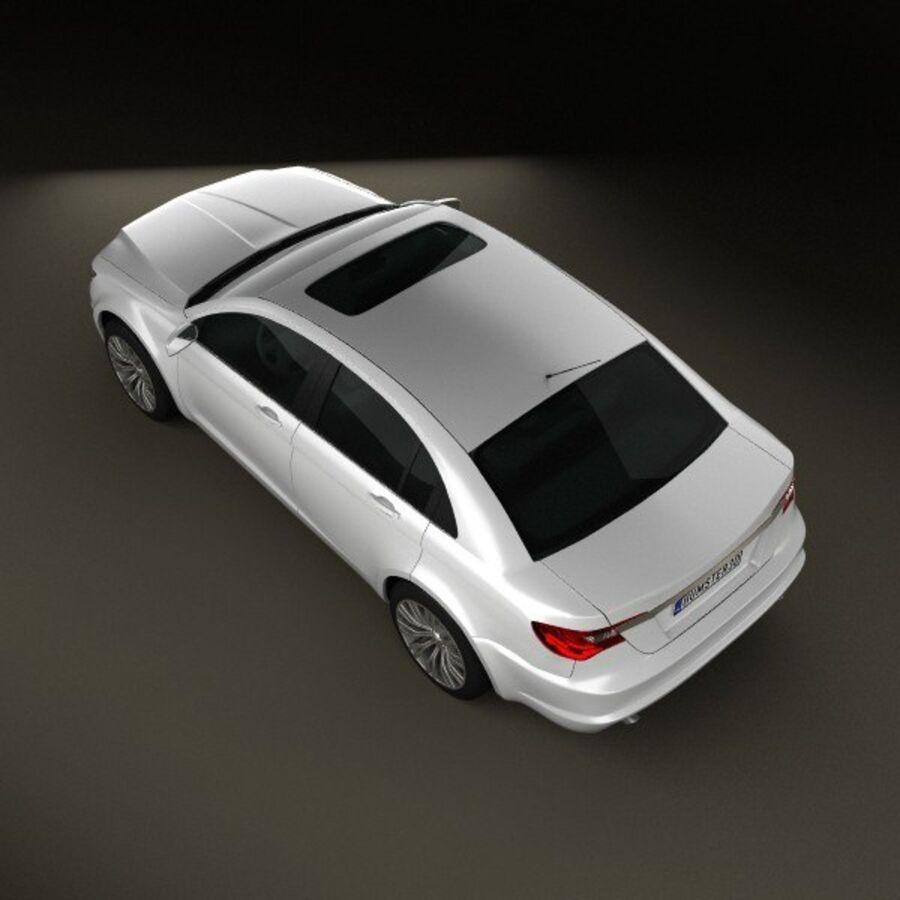克莱斯勒200轿车2011 royalty-free 3d model - Preview no. 9