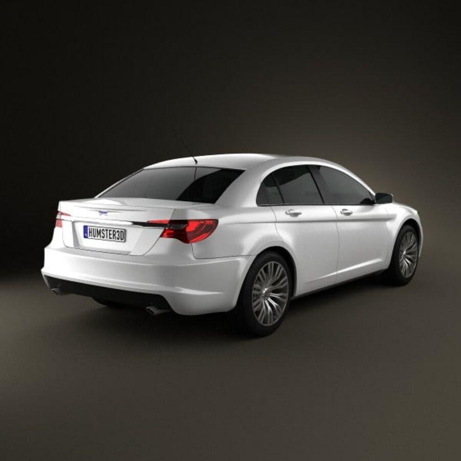 克莱斯勒200轿车2011 royalty-free 3d model - Preview no. 2