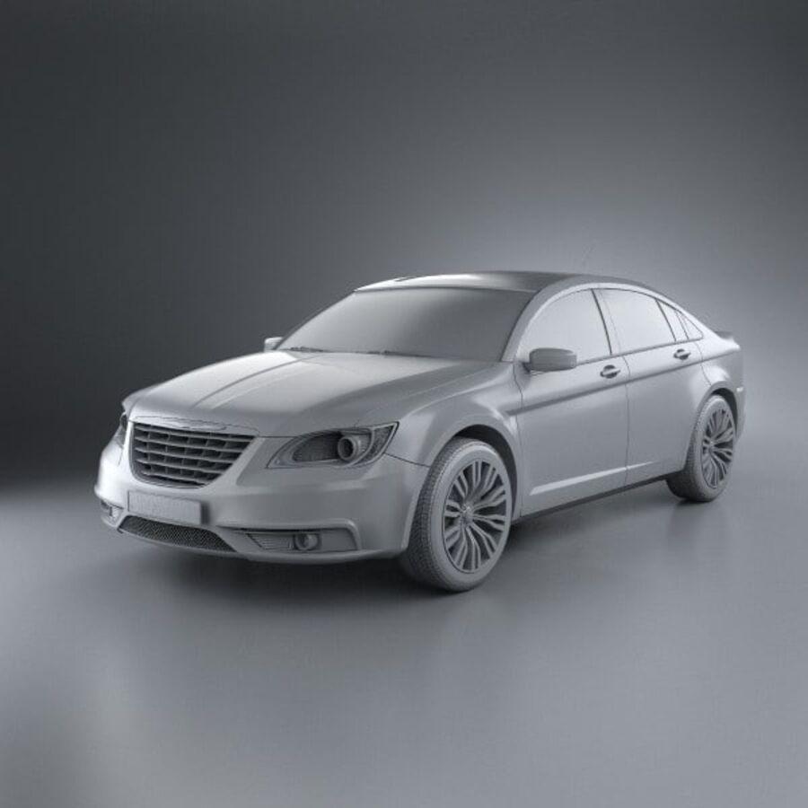 克莱斯勒200轿车2011 royalty-free 3d model - Preview no. 11