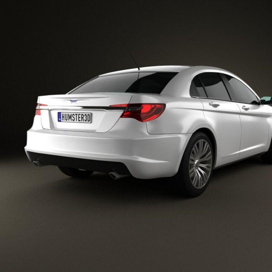 克莱斯勒200轿车2011 royalty-free 3d model - Preview no. 7