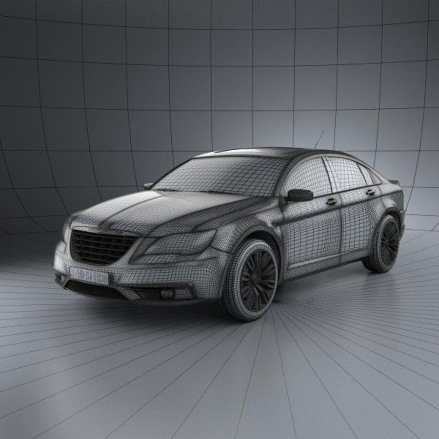 克莱斯勒200轿车2011 royalty-free 3d model - Preview no. 3