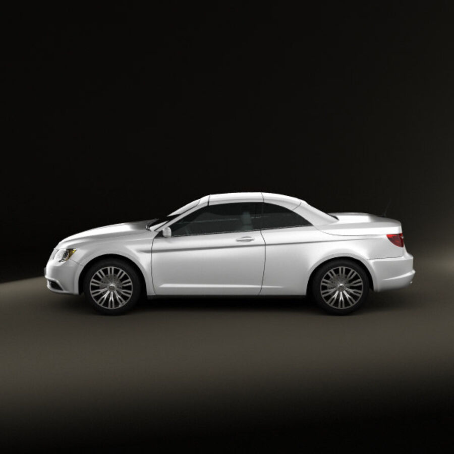 克莱斯勒200 Convertible 2011 royalty-free 3d model - Preview no. 5